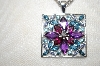 **MBA #21-224  Endicron & Multi Gemstone Pendant With Chain