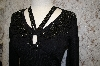 "Designer ""Felicity"" Black Hand Beaded Sweater"