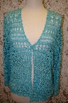 "MBA #16-047  ""Peck & Peck Collection Hand Crocheted Cardigan"