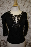 "MBA #16-050  ""Joseph A. Hand Embelished Black Sweater"