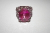 **Charles Winston Bold Created Pink Sapphire Ring