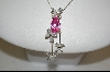"""SOLD""  Suzanne Somers Pink Pear Cut & Clear Cz Pendant & Ring"