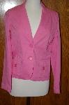 "**MBA #23-442  ""Designer Jones New York Pink Jacket"