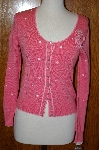 "MBA #23-448  ""Designer Peck & Peck Collection Peach Embroidered Sweater"
