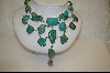 "** MBA #S19-2383    ""15 Nugget Blue & Green Turquoise Necklace"