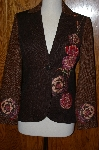 "**MBA #23-457  ""Debbie Shuchat Embroidered Tweed & Brocade Jacket"