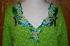"""SOLD""  MBA #24-370   ""Limited Edition Bright Green Butterfly Story Book Sweater"