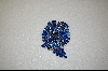 "**  ""Weiss"" 1950's Large Blue Austrain Crystal Brooch"