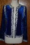 "**MBA #23-453  ""Victor Costa Embellished Velvet Dinner Jacket"