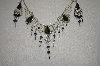 Peruvian Black Onxy Necklace With Matching Earrings