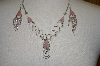 +MBA #24-027  Peruvian Pink Opal & Rose Quartz Necklace & Matching Earrings
