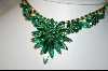 ** 1950's Green Crystal Necklace