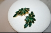 **  Emerald Green 1950's Austrian Crystal Clip On Earrings