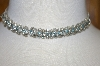 **MBA #24-175  Clear & Blue Crystal Chocker