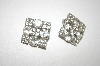 Square Clear Crystal Clip On Earrings
