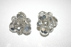 Smokey Grey AB Crystal Cluster Earrings