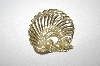 +MBA #24-241  Gold Plated Glass Pearl & Crystal Pin