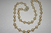**MBA #21-148  Faux Glass Pearl  Necklace With Jeweled Clasp