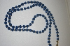 **  Monet Acrylic Blue Bead Necklace