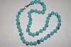 Turquoise Colored Glass Bead Necklace