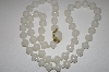 Made In West Germany White Acrylic Bead Necklace