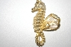 +MBA #24-285  Gold Plated Sea Horse Pin