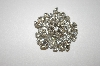 +MBA #24-374  Large Clear Crystal Silvertone Brooch
