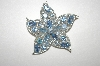 **MBA #24-380  Sarah Coventry Blue Crystal Star Fish Pin