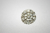 +MBA #24-386   Silvertone Clear Crystal Round Pin