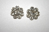**MBA #24-382   Clear Crystal Round Clip On Earrings