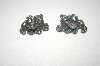 **MBA #24-467  Coro Screw Back Blue Crystal Earrings