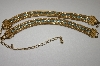 **MBA #24-390  Sarah Coventry Gold Plated Mesh Blue Crystal Chocker & Matching Bracelet