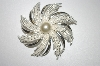 **MBA #25-003  Sarah Coventry Silver Tone Pin Wheel Brooch