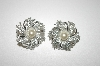 **MBA #25-004  Sarah Coventry Silvertone Pinwheel Earrings