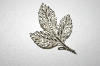 Tafari Silvertone Leaf Pin