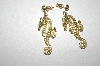 "+MBA #25-038  ""Gold Plated Sea Horse Pierced Earrings"