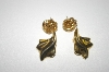 **MBA #25-035   Set Of Two Gold Plated Earrings