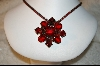 **  Red Crystal & Glass Necklace