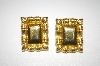 **MBA #25-023   Monet Gold Plated Square Pierced Earrings