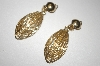 +MBA #25-012  Gold Plated Clip On Dangle Earrings