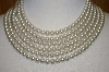 "Made In Japan 6 Row 20"" Faux Pearl Necklace"