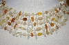**MBA #25-105  Monet Shell & Gemstone 5 Row Necklace