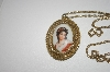 **MBA #25-091  Ceramic Victorian lady Pendant & Chain