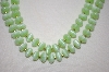 Green Acrylic & 14K Plated bead Necklace