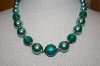 Two Tone Green Acrylic Bead Necklace