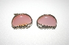 **MBA #S4311  Coro Pink Acrylic Clip On Earrings