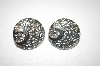 **Round Silver Tone Clip Style Earrings