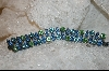 **  Peridot Green & Light Blue Crystal Bracelet