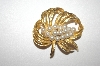 **MBA #S4-109  Gold Plated Faux Pearl Pin
