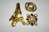 **Set Of Three Gold Plated Pins
